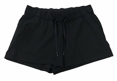 $ CDN69.04 • Buy Lululemon On The Fly Shorts Size 12 Black 2.5  Inseam Full On Luxtreme