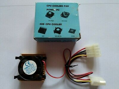 AU29 • Buy NOS Heatsink And Fan For 486 SX/SX2/DX/DX2/DX4 Or 586/5x86 P75-133 CPU