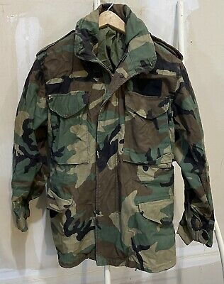 $19.99 • Buy US Army M-65 Field Jacket Size X-Small Short BDU Woodland Camo Cold Weather