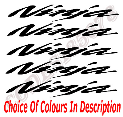 £4.49 • Buy 5 X KAWASAKI NINJA TANK FAIRING STICKERS DECALS - DIFFERENT COLOURS AVAILABLE