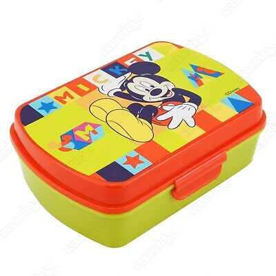 £7.99 • Buy Licensed Disney Character Mickey Mouse Yellow Lunch Sandwich Box School Kids 3+Y