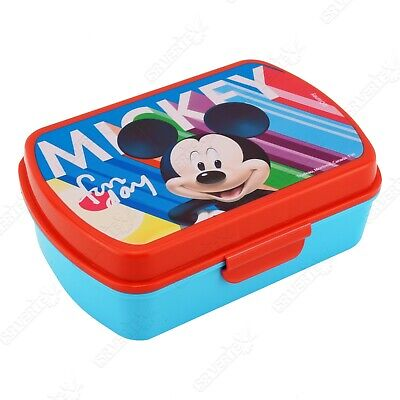 £7.99 • Buy Licensed Disney Character Mickey Mouse Blue Lunch Sandwich Box School Kids Gift