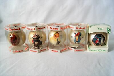 $ CDN45.68 • Buy Lot Of 5 Norman Rockwell Glass Ball Christmas Ornaments Collectibles