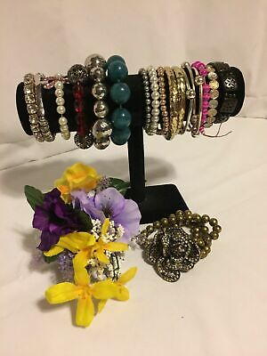 $ CDN21.29 • Buy Jewelry Lot Of 44 Bracelets Stretchy Vintage/Estate/Collections/Close-outs