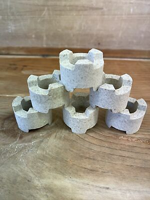 £20 • Buy NEW KILN PROPS SIX APPROX SIZE 3cm TALL HOBBY STUDIO CERAMIC POTTERY 6 STACKABLE