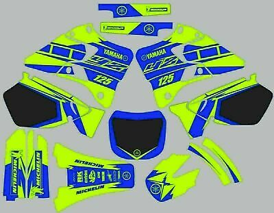 $105 • Buy Decals For YAMAHA GRAPHICS Sticker YZ 125 YZ125 1996-2001 Bright Green