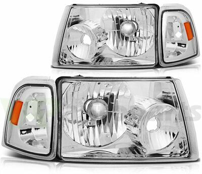$80.40 • Buy Headlights Assembly Fits 01-11 Ford Ranger Driver + Passenger Sides Replacement