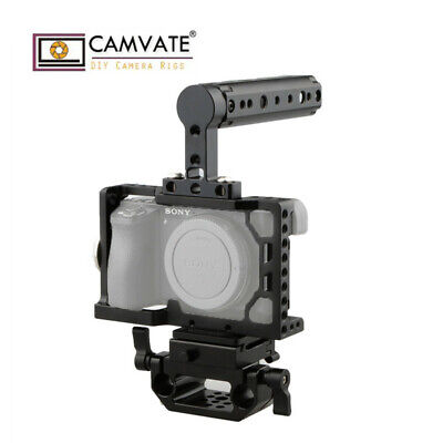 $ CDN111.29 • Buy CAMVATE Sony A6500 Camera Cage Kit W/ ARCA QR Baseplate And Cheese Top Handle