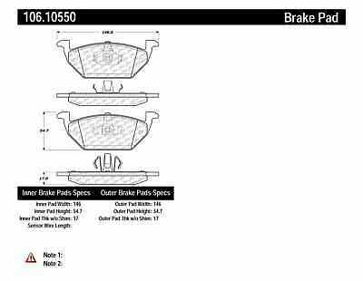 $54.99 • Buy Centric Parts 106.10550 Disc Brake Pad Set For 05-08 Escape Mariner Tribute