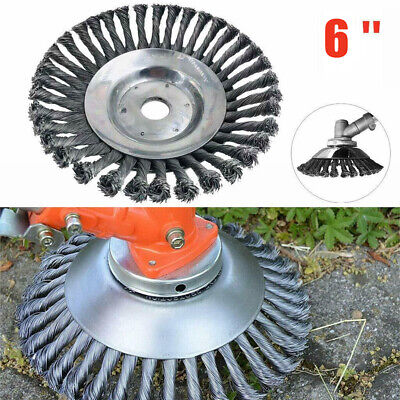 AU21.99 • Buy Durable 6  Steel Wire Wheel Brush Grass Trimmer Head Weed Cleaning Tools