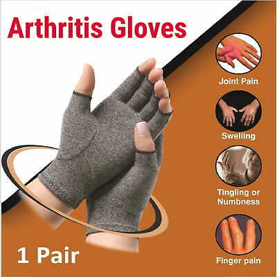 AU12.99 • Buy Fingerless Arthritis Gloves Compression Sleeve Hand Support Brace Typing Mittens