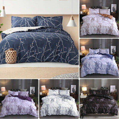 AU26.99 • Buy Marble Doona Duvet Quilt Cover Bed Set Single Queen King Size Bedding Pillowcase