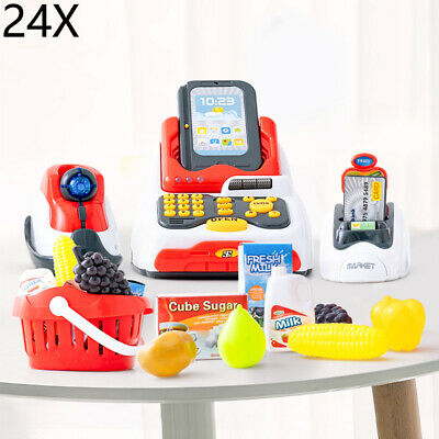£13.69 • Buy Kids Electronic Cash Register Toy Working Scan Till Play Food Shopping Game Set
