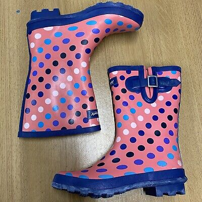 £19.99 • Buy Cotswold Coral Pink Spotty Wellington Boots UK4