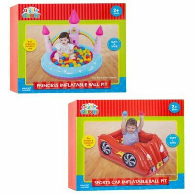 £24.99 • Buy New Fun Princess Castle And Sports Car Inflatable Ball Pit Provides Hours Of Fun