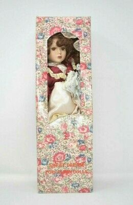 $ CDN39.99 • Buy Vintage Sweet Dreams Porcelain Doll Red Dress, Hat And Umbrella 15 Inches