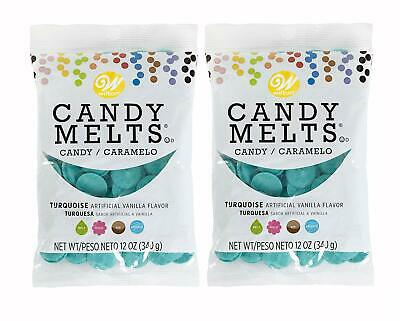Wilton Candy Melts, Turquoise (Blue Green), Great For Party Cake Pops, Cookies, • 8.55£