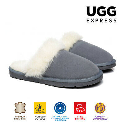 AU35 • Buy 【EXTRA20%OFF】UGG Slippers Women Hayley AU Sheepskin Wool Slippers Thick Sole