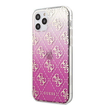 £25.59 • Buy Guess IPhone 12 / 12 Pro 4G Gradient 3D Logo Kollektion Hülle Cover Case Pink