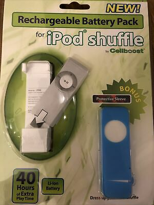 £3.24 • Buy RECHARGEABLE BATTERY PACK WITH PROTECTIVE SLEEVE IPOD SHUFFLE By CELLBOOST NEW!