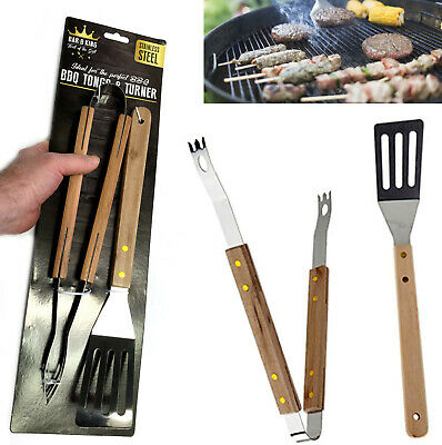 £9.45 • Buy BBQ TONGS & TURNER TOOLS Stainless Steel Barbecue Grill Outdoor Camping Cooking
