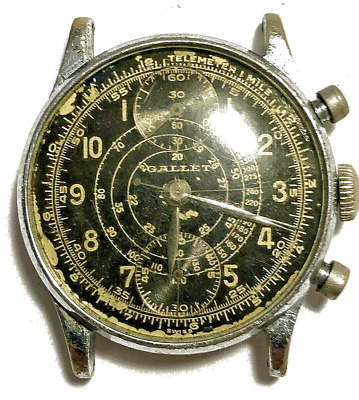 $ CDN913.51 • Buy Gallet Mens Vintage Gallet Chronograph Dial & Movement In Custom Case For Repair
