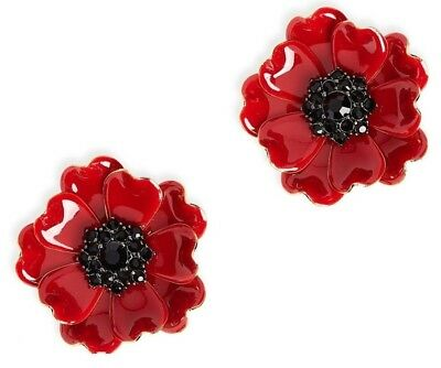 $ CDN143.94 • Buy Kate Spade Precious Poppies Earrings NWT Arresting Red Poppy Blossoms