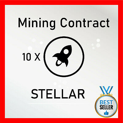 $27.79 • Buy 10 Stellar (XLM) CRYPTO MINING-CONTRACT - 10 XLM - Crypto Currency