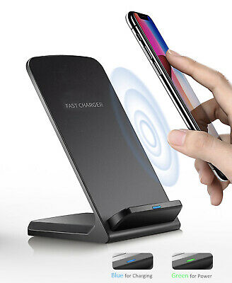 $ CDN10.77 • Buy Qi Wireless Fast Charger Charing Stand Pad Dock For Samsung IPhone Android Phone