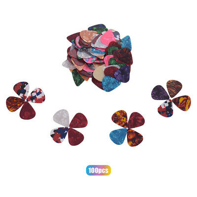 $ CDN12.39 • Buy 100pcs/pack Colorful Celluloid Guitar Picks For Bass Electric Acoustic T3S4