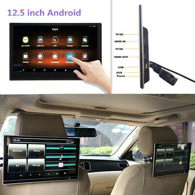 £206.68 • Buy 12.5  Android Headrest Monitor WIFI Car Player Bluetooth Rear Seat Entertainment
