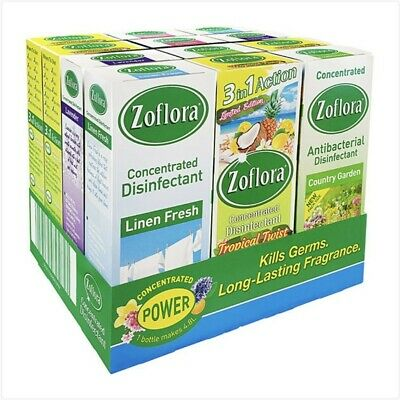 £17.70 • Buy Zoflora Concentrated Disinfectant Assorted Pack 12x120ml