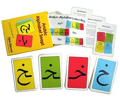 £7.95 • Buy Arabic Alphabet Snap - Flash Cards - Learn Arabic Letters Game - Perfect Gift
