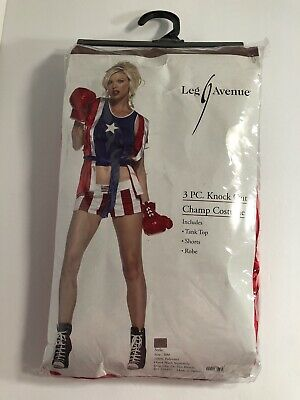 £15.58 • Buy Leg Avenue Costume Knock Out Champ 83396 Red/Blue Small/Medium