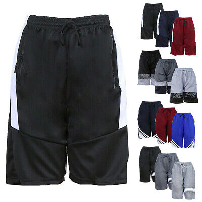 $9.99 • Buy Men Active Basketball Shorts Mesh Quick Dry Workout Sport Pants With 2 Pockets