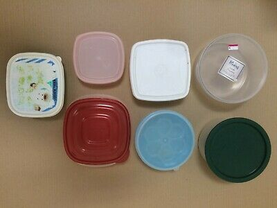 £4.30 • Buy Bulk Job Lot 7 X Clear Plastic Food Storage Container Boxes Tupperware With Lids