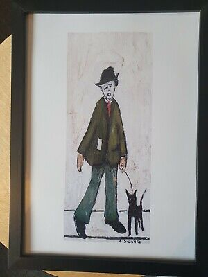£6.99 • Buy L.s Lowry   Man With Dog   Framed Print