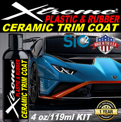 $22.95 • Buy Ceramic Car Coating Trim Coat One Year   Plastic & Rubber Protectant  Like New