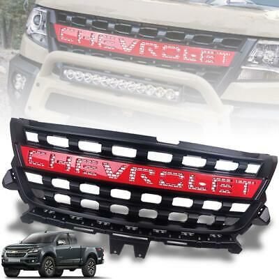 AU308.89 • Buy Grill Grille Matte Black Logo Red For Chevrolet Holden Colorado Z71 2017-2020