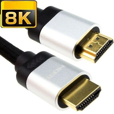 £8.99 • Buy PREMIUM HDMI CABLE 2.1 ARC 8K FAST 48Gbps ULTRA HD SHORT LONG SKY TV XBOX Ps4 SL