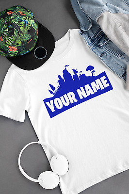 $ CDN17.08 • Buy Personalised Kids Fortnite Fortnight T-shirt - Any Colour And Name