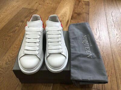 AU430 • Buy Alexander McQueen Sneakers Red And White Size 37