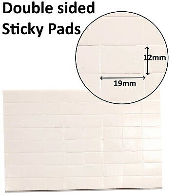 £1.69 • Buy 64-640 DOUBLE SIDED STICKY PADS SELF ADHESIVE FOAM FIXERS FOR CARD CRAFT 19x12mm