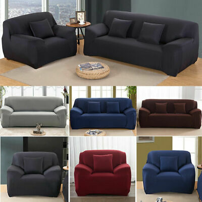 AU12.34 • Buy EASY Stretch Couch Sofa Lounge Covers Recliner 1 2 3 4 Seater Dining Chair Cover
