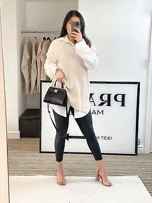 £19.99 • Buy Cream Cable Knit Longline Jumper Women's Outerwear Knit Throw Over Spring