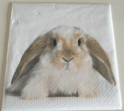 £1.20 • Buy 4 X Napkins For Decoupage Easter Bunny Animals