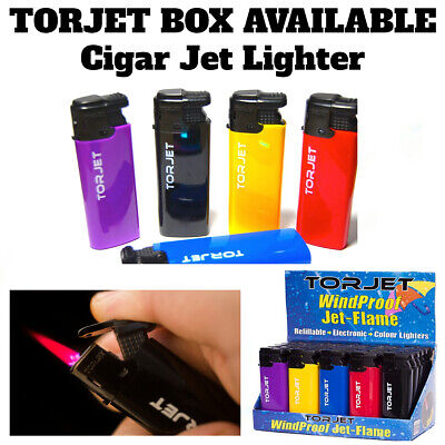 £13.49 • Buy 5-10-25 X TORJET CIGAR TURBO WINDPROOF JET FLAME ELECTRONIC LIGHTERS -Refillable