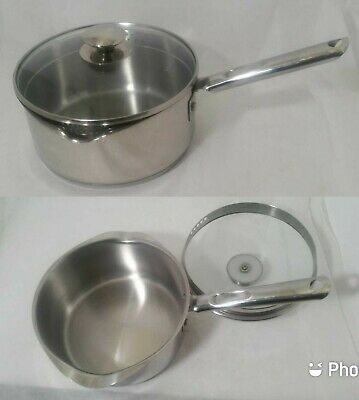$ CDN59.53 • Buy WEAR-EVER 3 Quart Stainless Steel Sauce Pans Dual Pour With Lid. LkNew