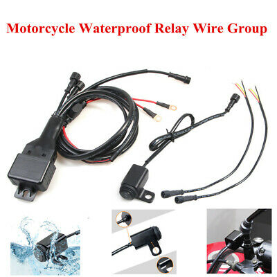 $26.63 • Buy Motorcycle Electric Vehicle Waterproof Relay Wire Group Switch Wire Cableset