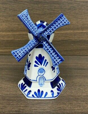 £10 • Buy Vintage Delft Hand Painted Windmill